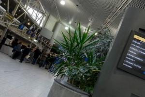 Le Hall de l'aéroport de Biarritz