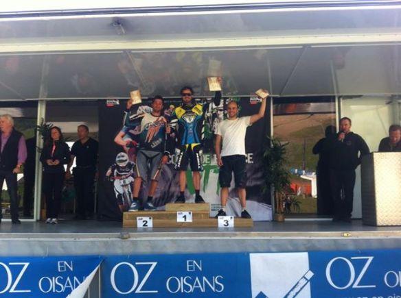 Cyril Meslier sur la plus haute marche du podium.