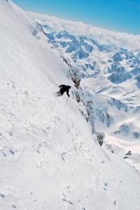 Descente à partir du Pic du Midi. Ph. C. Etchelecou.