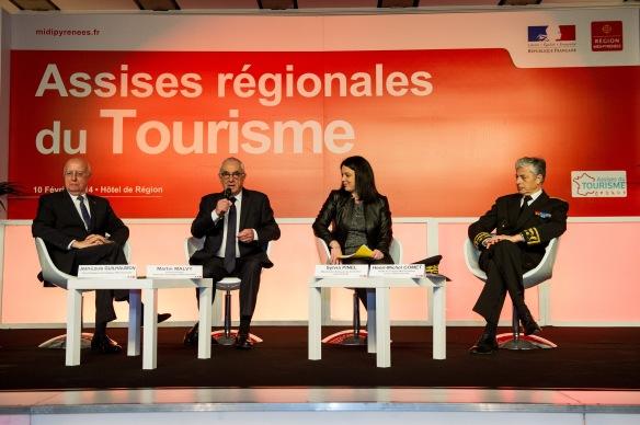 Martin Malvy avec Sylvia Pinel, ministre de l'artisanat, du commerce et du tourisme. Ph. Fr. Lancelot.